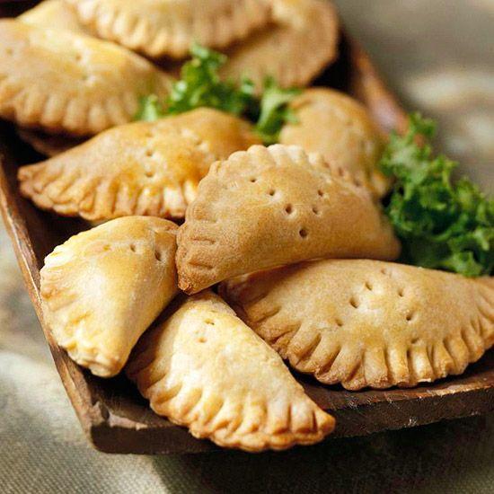 These Beef and Olive Empanaditas are perfect game-day food! Recipe: www.bhg.com/recipe/appetizers-snacks/beef-and-olive-empanaditas/?socsrc=bhgpin091812beefoliveempanaditas:
