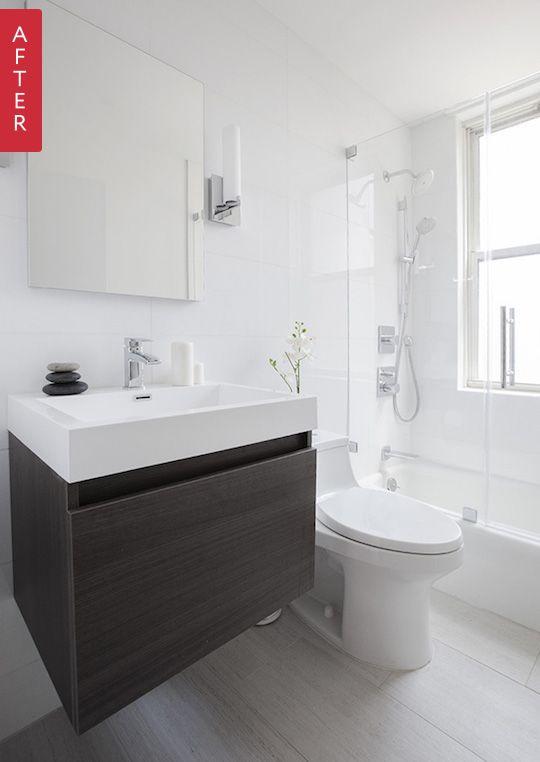15 before & after bathroom remodels we LOVE on domino.com