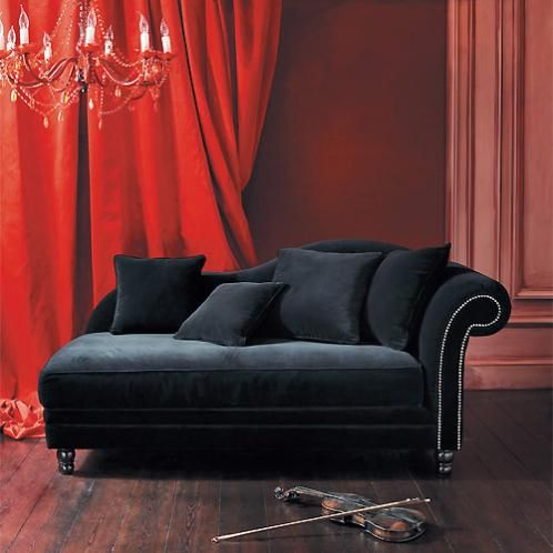 1000 id es sur le th me recamiere sur pinterest couch hocker bettsofa et c - Meridienne velours noir ...