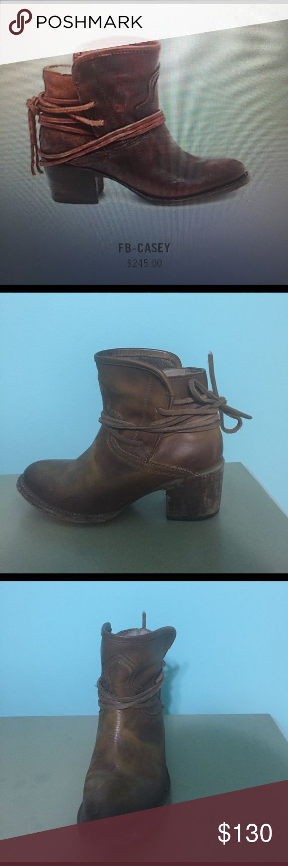 steve madden free bird booties very cute brown leather booties!! perfect for everyday! only worn once, in great condition Steve Madden Shoes Ankle Boots & Booties
