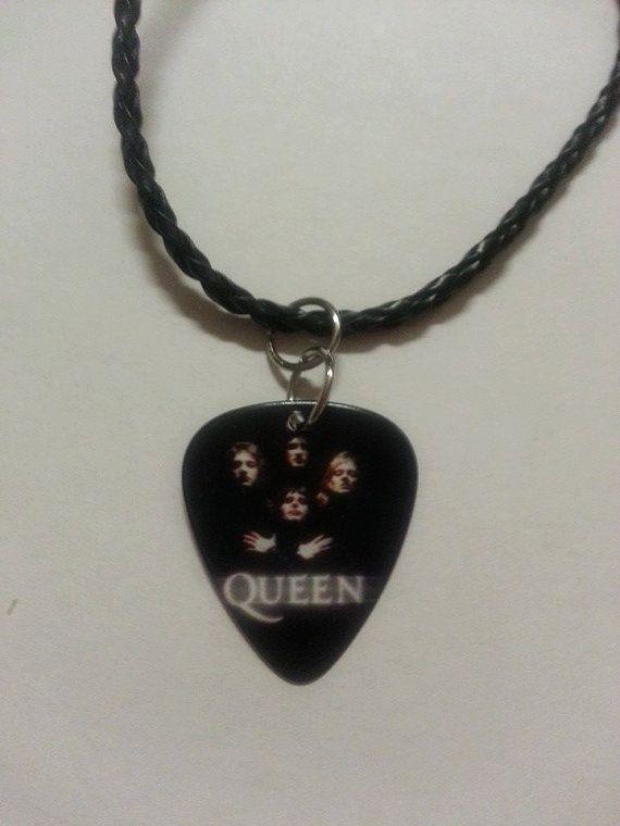 Queen Rock Band Necklace Freddie Mercury Brian by AprilLadyDesigns