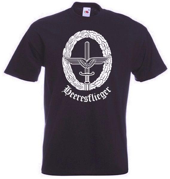 Bundeswehr T-Shirt Heeresflieger mit Abzeichen in schwarz / mehr Infos auf: www.Guntia-Militaria-Shop.de