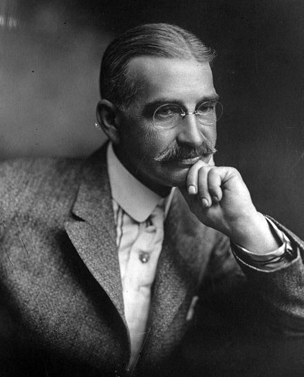 Copy of a portrait of L. Frank Baum, author of The Wonderful Wizard of Oz, circa 1911. Originally published in 1911 in the Los Angeles Times.
