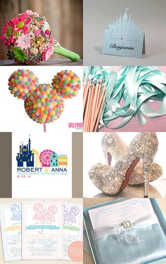 Disney wedding items from Etsy shops --Pinned with TreasuryPin.com