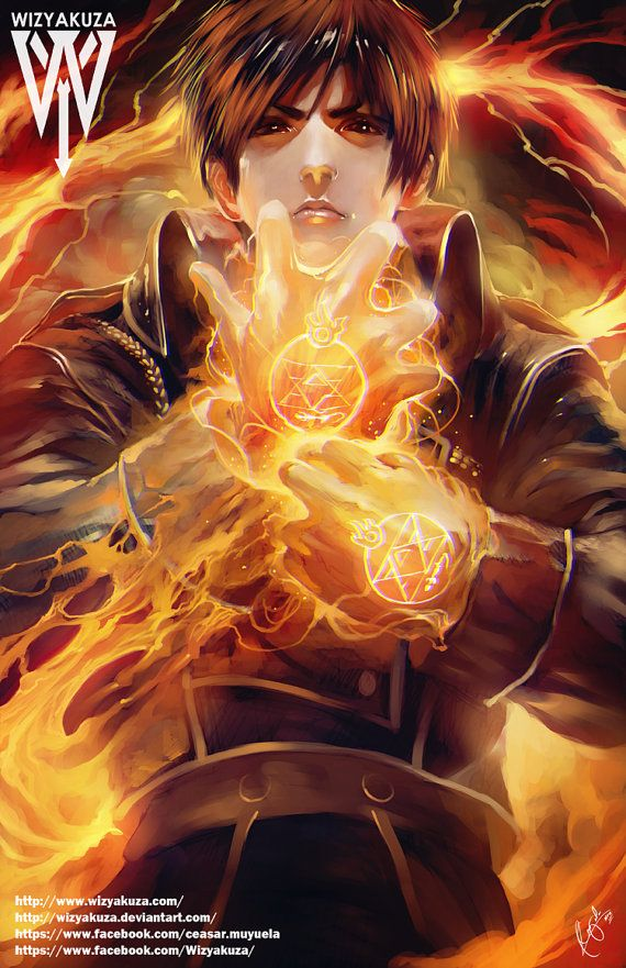 Roy Mustang - Full Metal Alchemist - 11 x 17 Digital Print