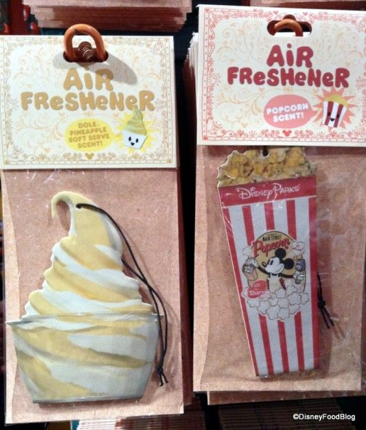Spotted: Dole Whip and Popcorn Air Fresheners at Disney World! #MustHave #WDW #Disney