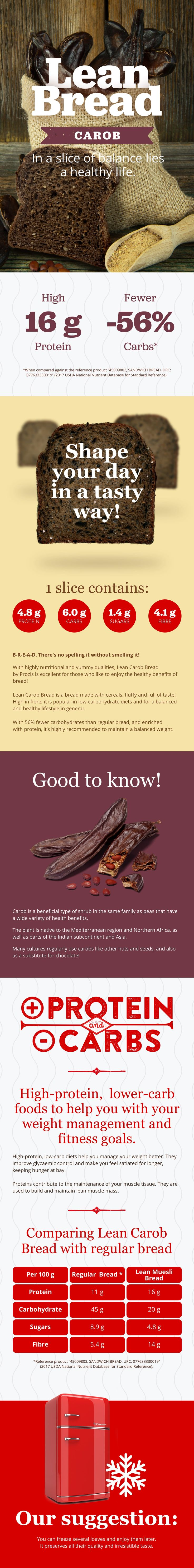 With highly nutritional and yummy qualities, Lean Bread Carob by Prozis is excellent for those who like to enjoy the healthy benefits of bread! #Prozis #ExceedYourself #ProzisRecipes #LeanBread #Carob #recipe #protein  #healthylife #foodie #food #homecooking #foodlover #eatclean #dinner #lunch #fit #nutrition #fitfood #lowcarbs #highprotein