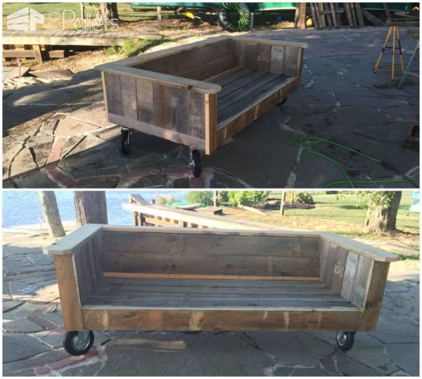 #Garden, #PalletSofa, #ReclaimedPallet I built this sofa out of repurposed pallets because I wanted something nice and I wanted to get rid of the pallets from my stone patio project. With a new patio, you need somewhere to sit.