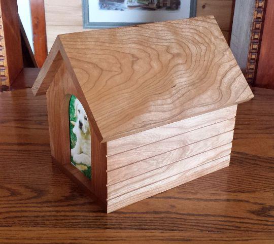 Dog house pet urns