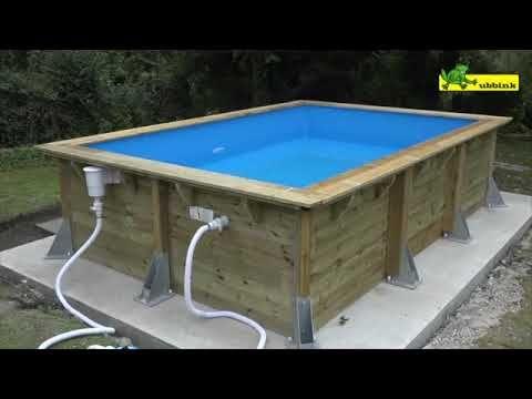 Montage piscine hors sol en bois rectangulaire ubbink Habillage piscine hors sol