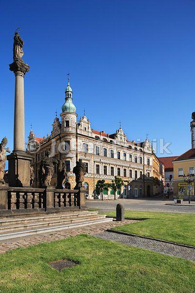 Maria Column, Alsovo Square, Pisek, Czech Republic