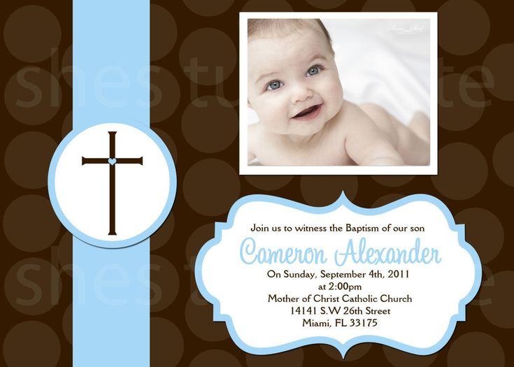 349 best baptism invitations images on pinterest christening 1st birthday christening invitations stopboris Choice Image