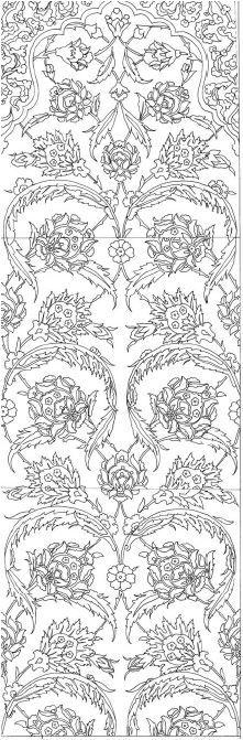 Ottoman paterns&motifs RÜSTEM PAŞA _ ÇİNİ - TİLE