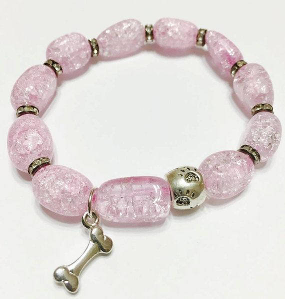 Pink Elastic Bracelet, Pet Memorial, Symphaty Pet Loss, Pet remembrance, Rainbow Bridge