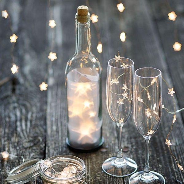 Bottiglia con luci