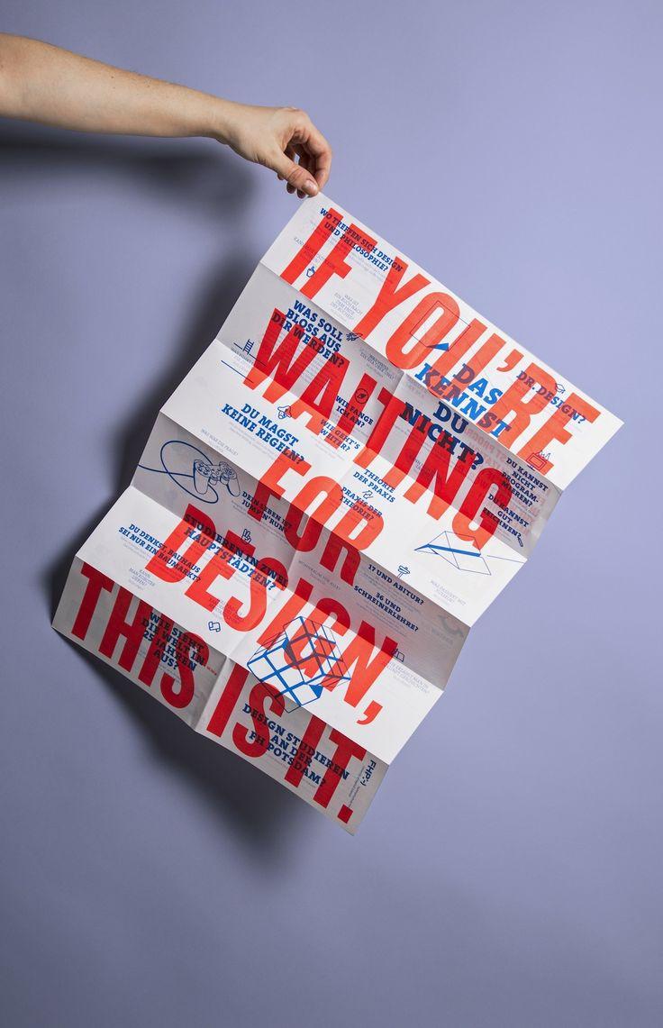 Flyer von Berliner Designstudio formdusche für FH Potsdam #flyerdesig #design #designstudium