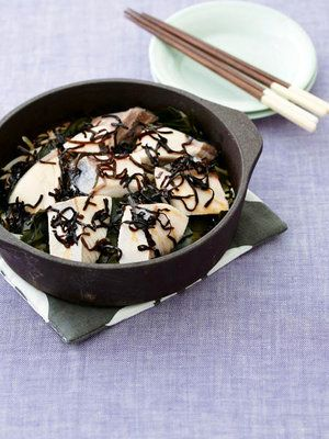 鍋ひとつレシピ♡寒ブリと白菜の塩昆布蒸し鍋