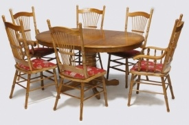 Country Line Dining room, Round Table with extension, oak