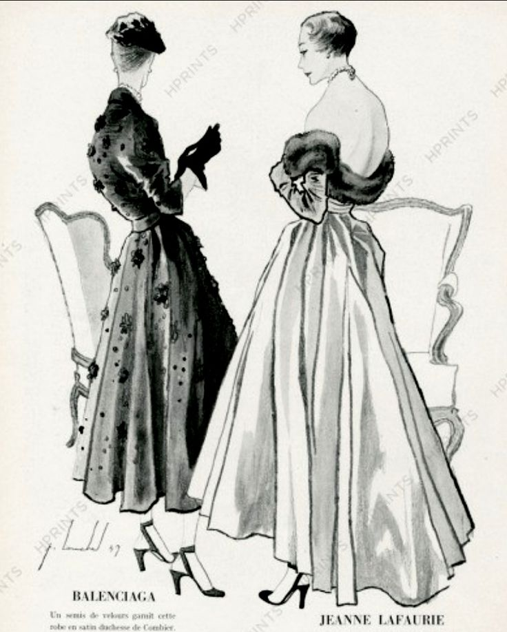 Balenciaga & Jeanne Lafaurie 1949 Backless Evening Gown, Pierre Louchel