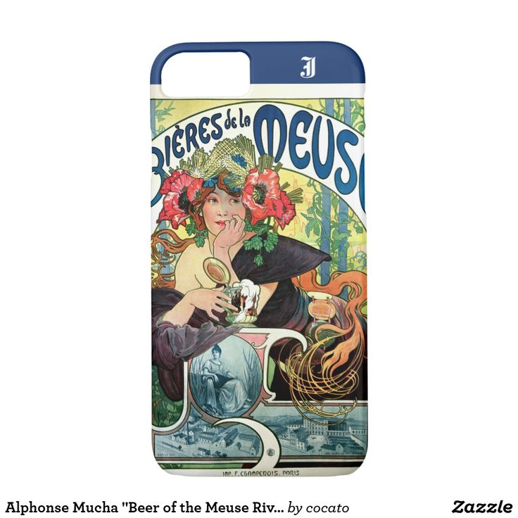 """Alphonse Mucha """"Beer of the Meuse River"""" (1897) iPhone 7 Case"""