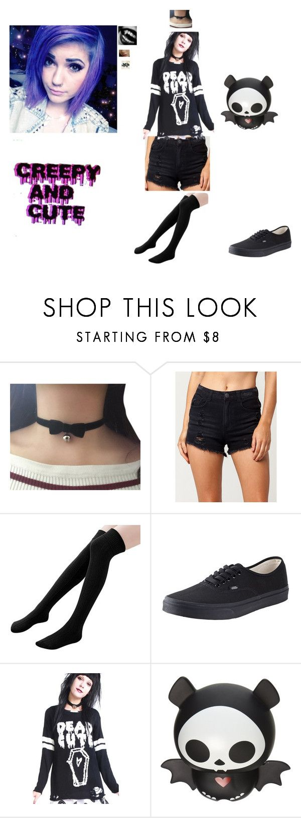 """""""hey guys going to pc senior day (please support my patreon)"""" by poisonberrykitten ❤ liked on Polyvore featuring Almost Famous, Vans and KAOS"""