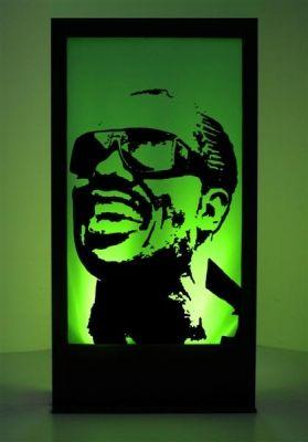 Stevie Wonder Silhouette Panel