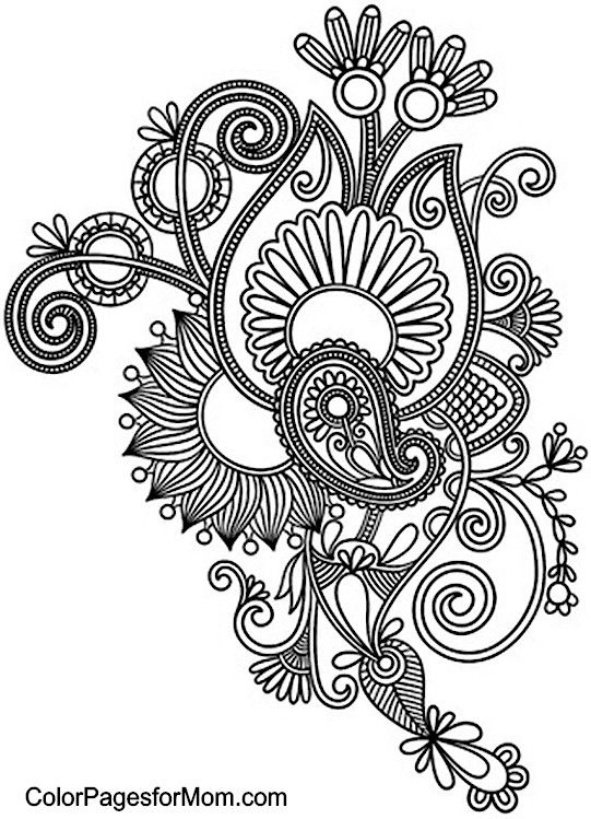 Paisley Coloring Page 16
