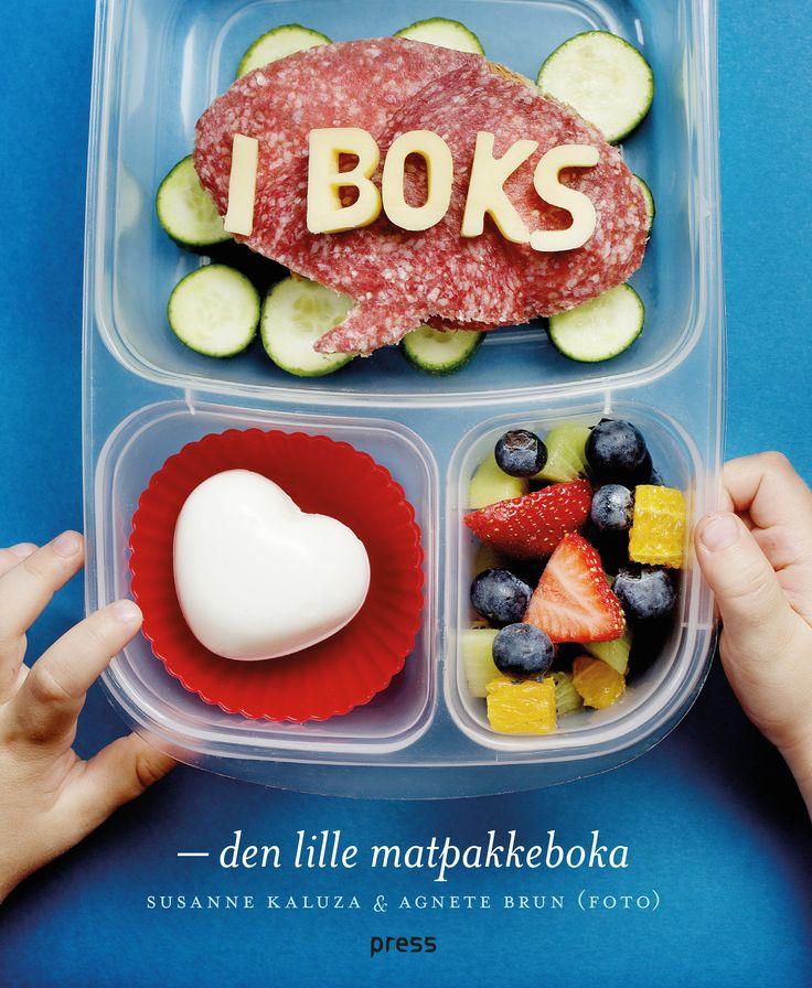 Suzanne Kaluzas book, full of inspiration for healthy, delightful lunchboxes for children. Framsidan på Susanne Kaluzas fina bok I BOKS - den lille matpakkeboka
