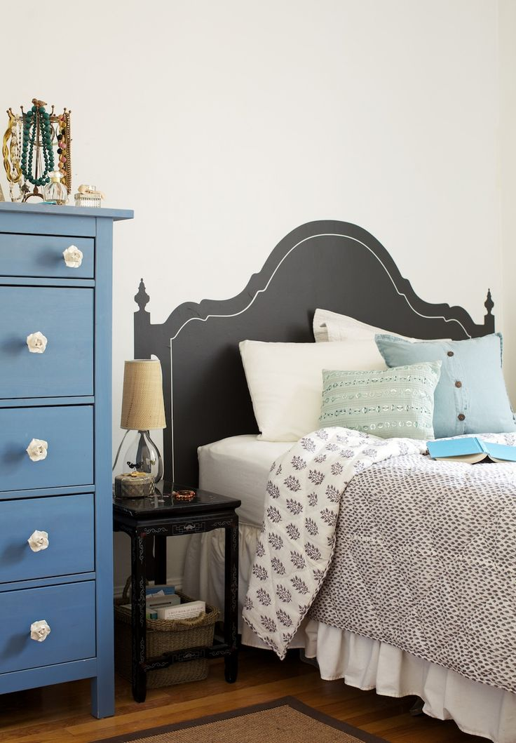 17 best images about ideas for colour blocking on for Faux headboard ideas