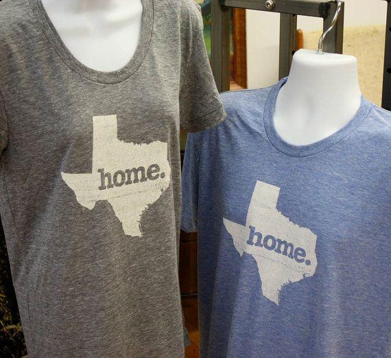 Texas Home. Tshirt Womens Cut by HomeStateApparel on Etsy