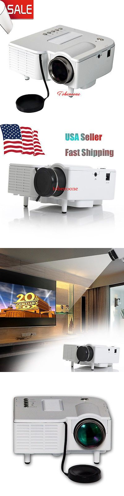 Home Theater Projectors: Mini Portable Lcd Led Proyector Projector Pc Laptop Vga/Usb Hd 1080P Usb Hdmi To BUY IT NOW ONLY: $34.85