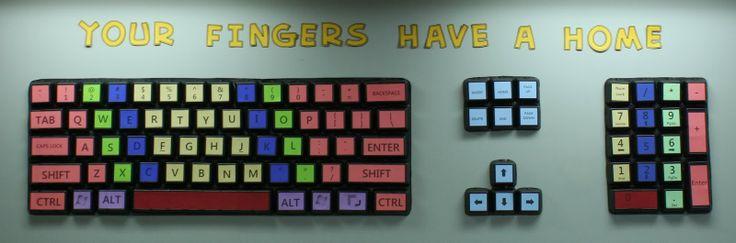 Teach the Bits and Bytes - Take Out Box Keyboard Bulletin Board