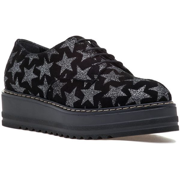 SUMMIT BY WHITE MOUNTAIN Belinda Black Multi Suede Platform Oxford ($159) ❤ liked on Polyvore featuring shoes, oxfords, black suede, suede oxford shoes, black suede oxfords, suede shoes, black platform shoes and oxford shoes