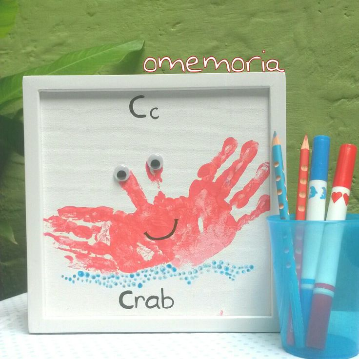 C for crab handprint art by omemoria