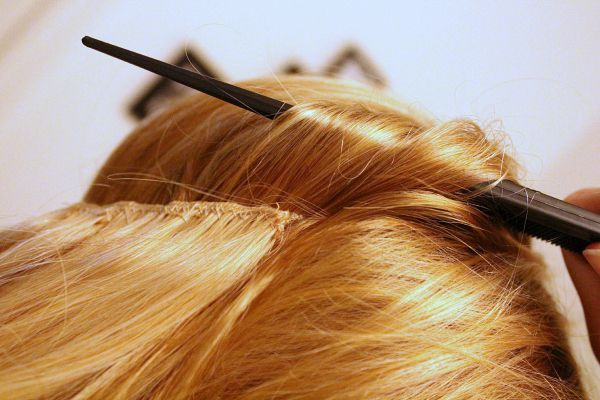 diy halo hair extensions 9