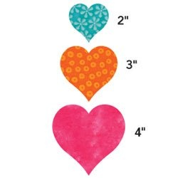AccuQuilt GO! Fabric Cutting Dies. Heart 2-inch. 3-inch & 4-inch
