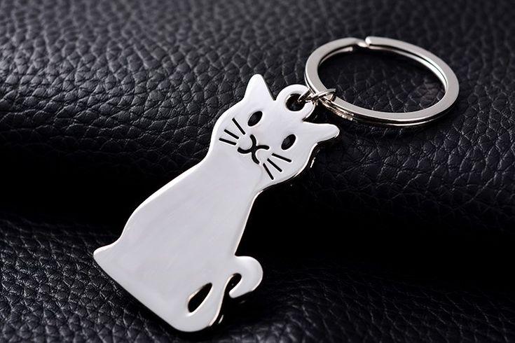 Cat+Keychain    Kitty+Size:+5.5cm+x+3cm    Material:+Zinc+Alloy,+Silver+plated    Condition:+Brand+New
