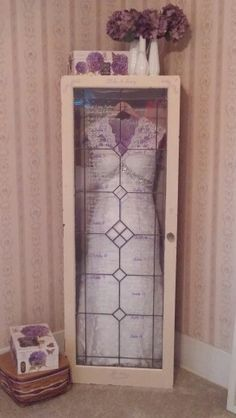 Wedding dress shadow box. Rather than expensive framing, get a glass fronted unit.