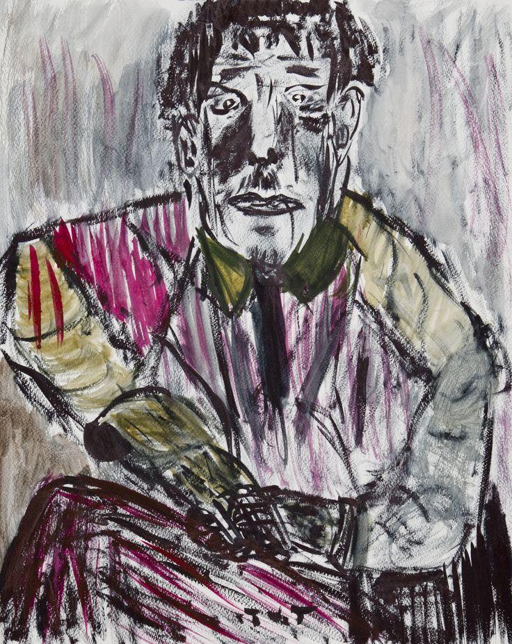 Wojciech Tut Chechliński, Wiktor, akwarela na papierze, 51 x 40,5 cm, 2011 r, sygnowany (kat. 061)