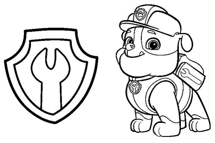 Dibujos para Colorear Infantil: Dibujos de Paw Patrol para ...