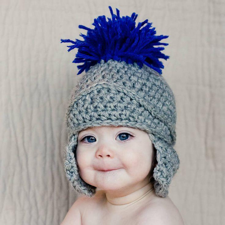 Crochet Roman Gladiator Helmet Hat