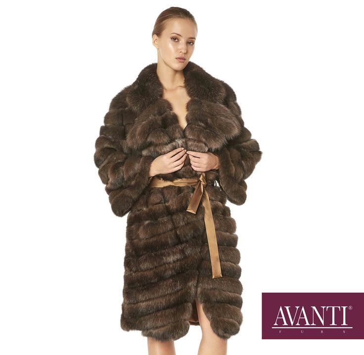 AVANTI FURS - MODEL: 1973-BOZENA SABLE JACKET with Leather Python details and belt #avantifurs #fur #fashion #fox #luxury #musthave #мех #шуба #стиль #норка #зима #красота #мода #topfurexperts