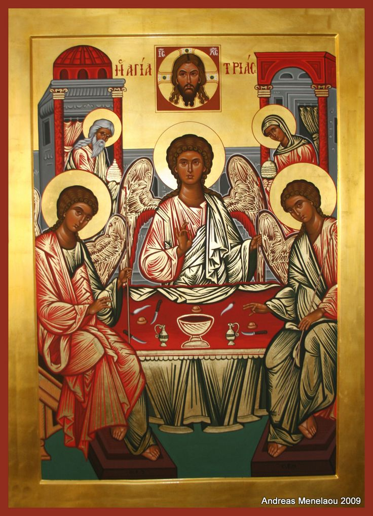 Holy Trinity - Andreas Menelaou: Byzantine Orthodox Iconographer | Portable Icons