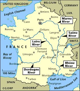 Map Of France With Rivers French Language And Culture For The