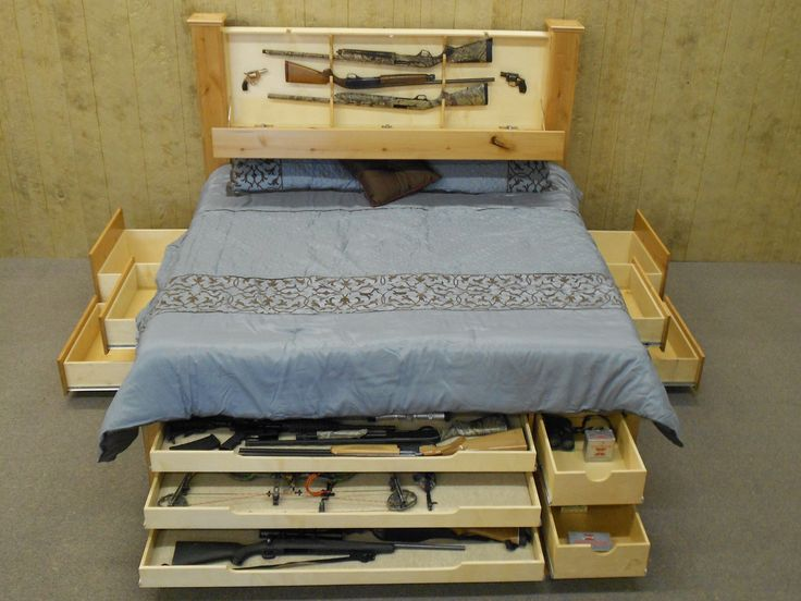Concealed Storage King Size Bed by L.C.S.I. Concealed Storage