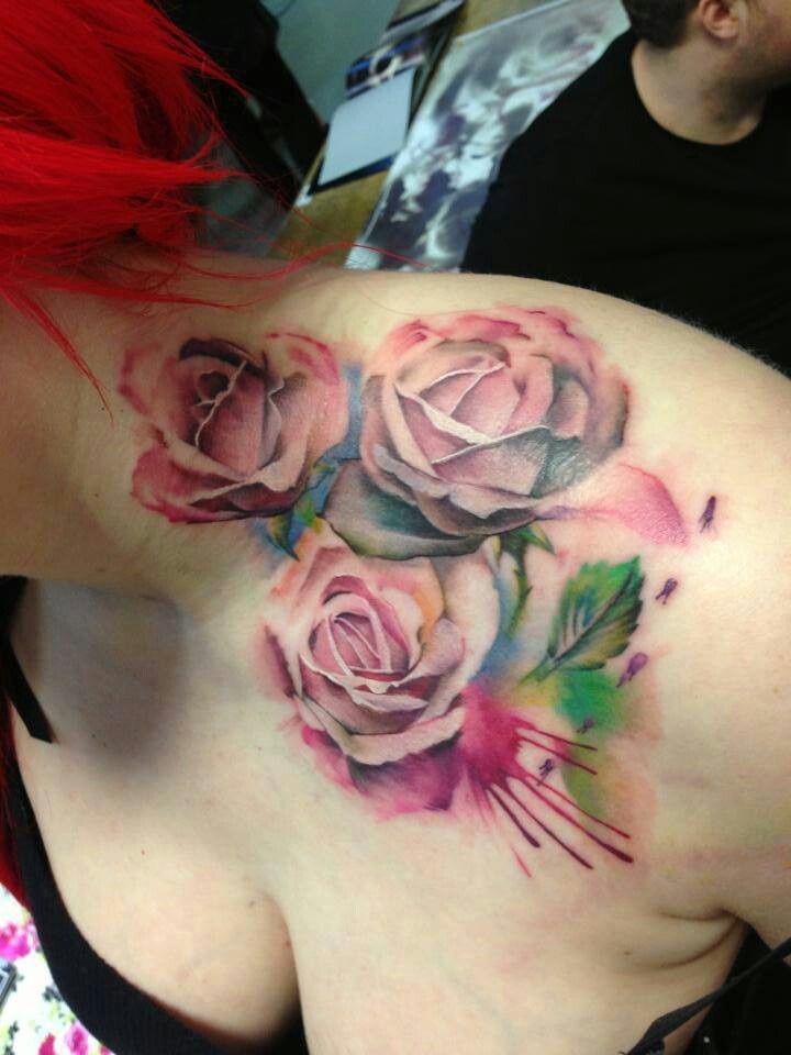 Rose watercolor | tattoos XD | Pinterest | Watercolors ...