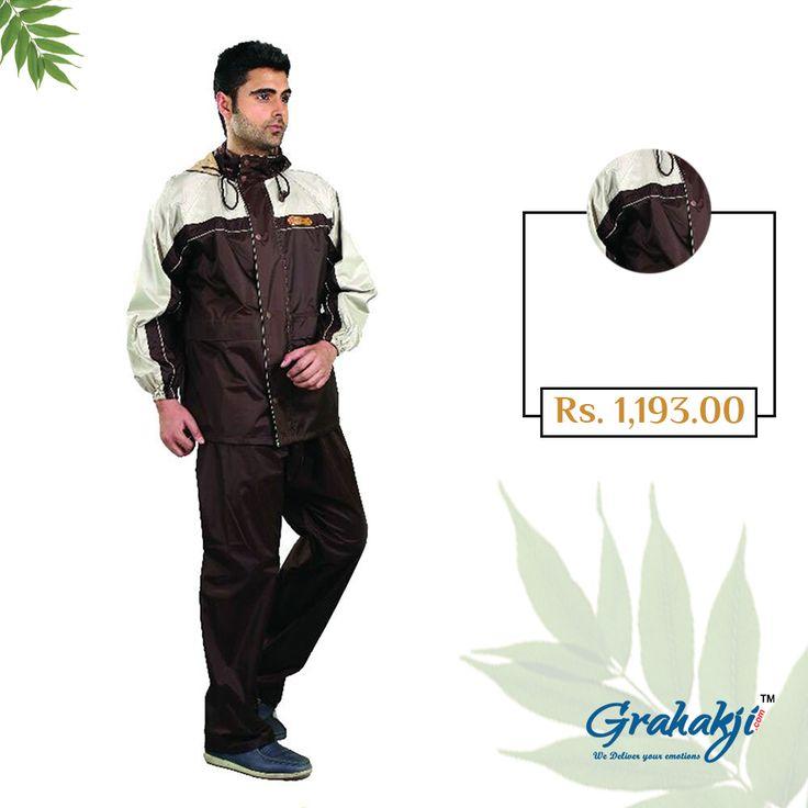 Mens Reversible Unique Tapping Rain Suit. #RainSuit #RainCoat #RainCoatForMen #Online #Shopping #Grahakji