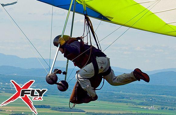 Profitez de 53% sur un vol tandem en deltaplane remorqué pour une personne allant jusqu'à 4000 pieds avec XFly! Seulement sur tuango.ca