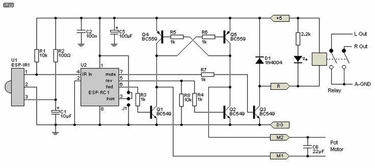 infrared remote control circuit diagrams schematics electronic