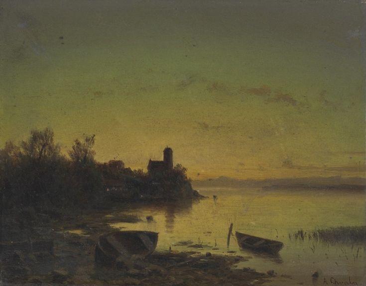 Adolf Chwala, Loďky na jezeře, [3. čtvrtina 19. století]